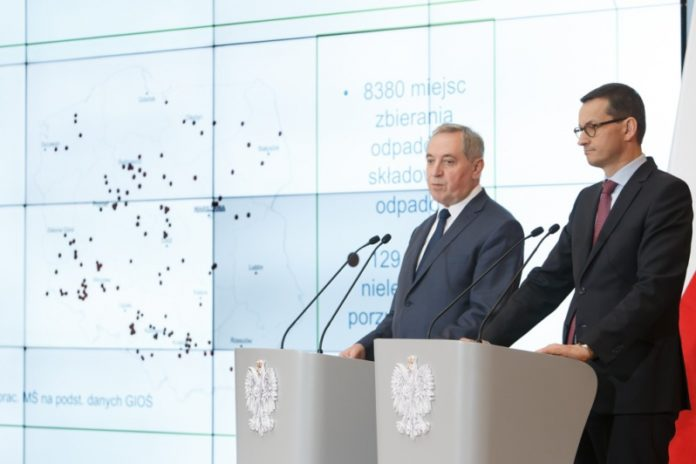 Poland Prime Minister Mateusz Morawiecki and Environment Minister Henryk Kowalczyk