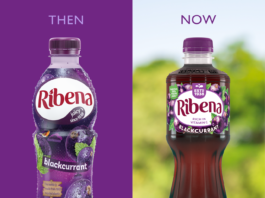 Ribena 100% recycled bottle