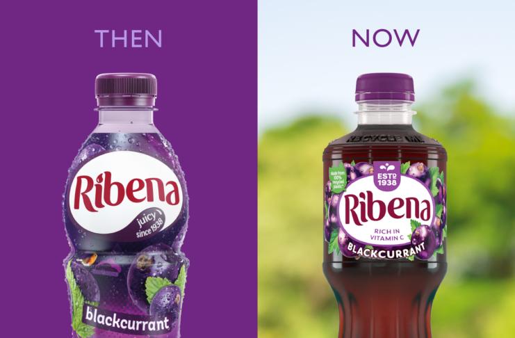 Ribena 100% recycled bottle