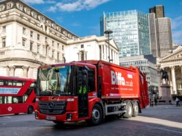 Biffa truck in London