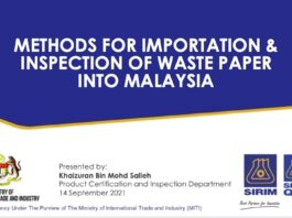 Sirim waste paper inspection presentation